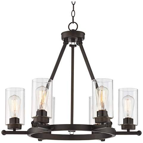 rustic industrial lighting. holman bronze 6light 26 34 rustic industrial lighting