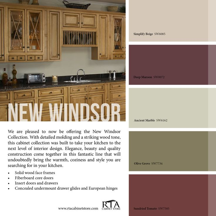 Color Palette To Go With Our Oak Kitchen Cabinet Line: Color Palette To Go With Our New Windsor Kitchen Cabinet
