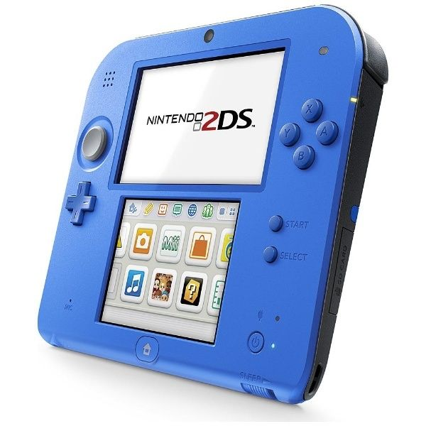 Nintendo 2ds blue and white dress.