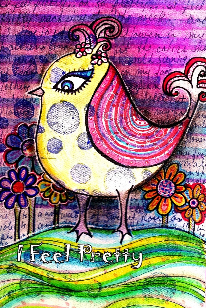 I Feel PrettyDoodles Art, Birds Art, Robin Mead, Art Journals, Journals Pages, Mead Art, Feelings Pretty, Mixed Pattern, Mixed Media Collage