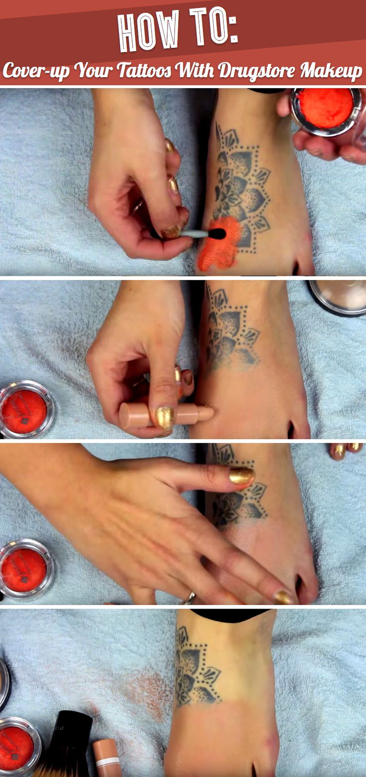 Here's A Technique To Magically Cover-up Your Tattoos With Drugstore Makeup