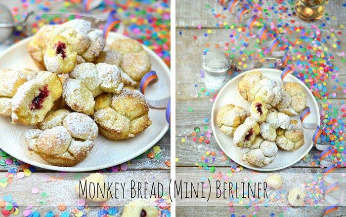 Monkey Bread (Mini) Berliner - Ofenberliner mit Marmeladenfüllung