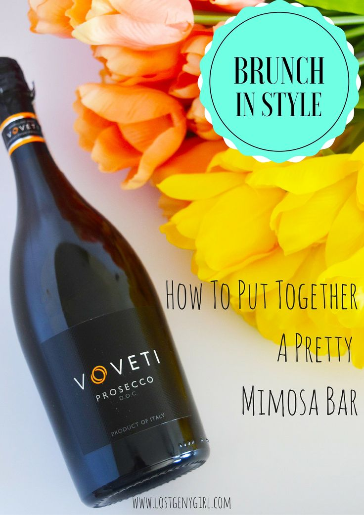 How To Put Together A Pretty Mimosa Bar #VOVETI #CleverGirls @Vovetiprosecco