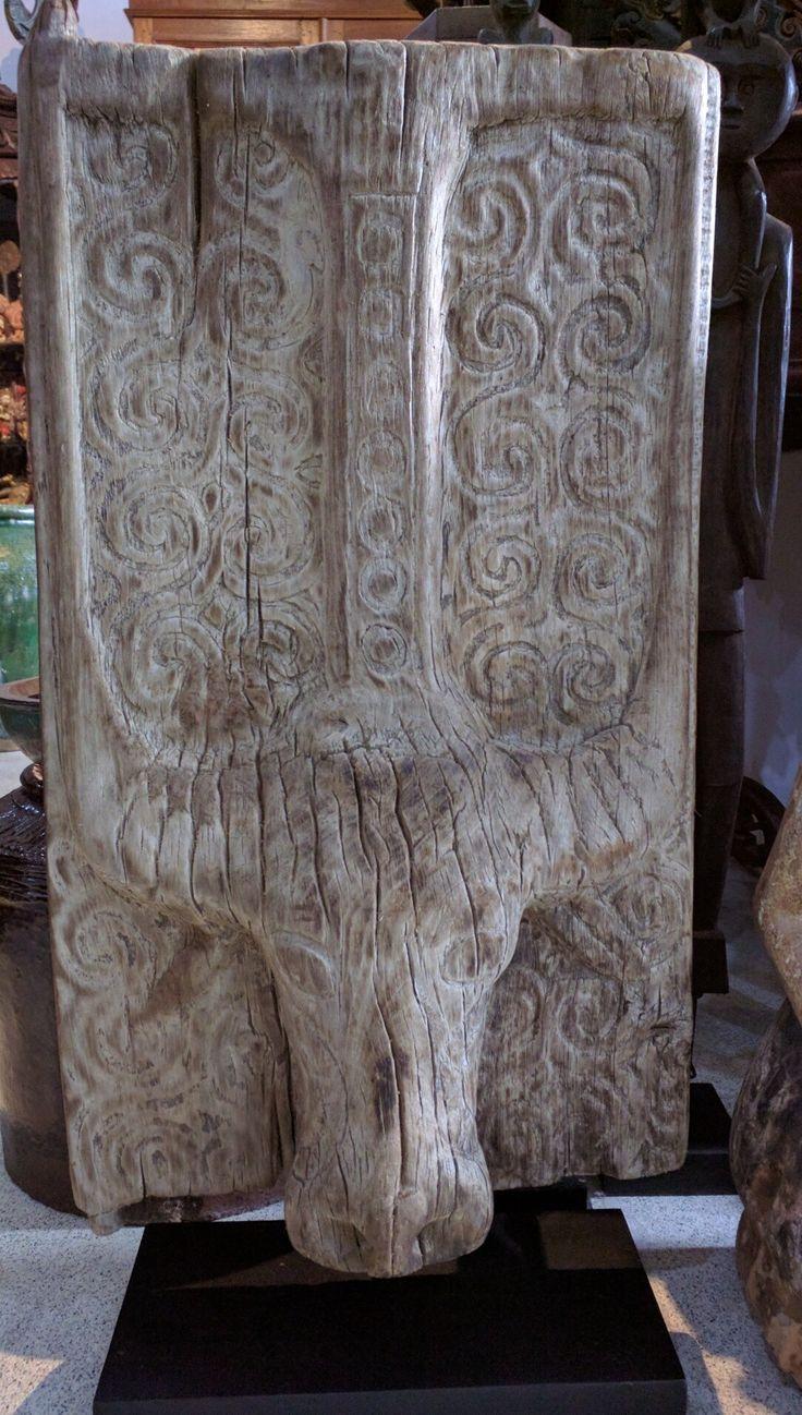 Toraja old carved window  panel.   Sulawesi. www.kulukgallery.com