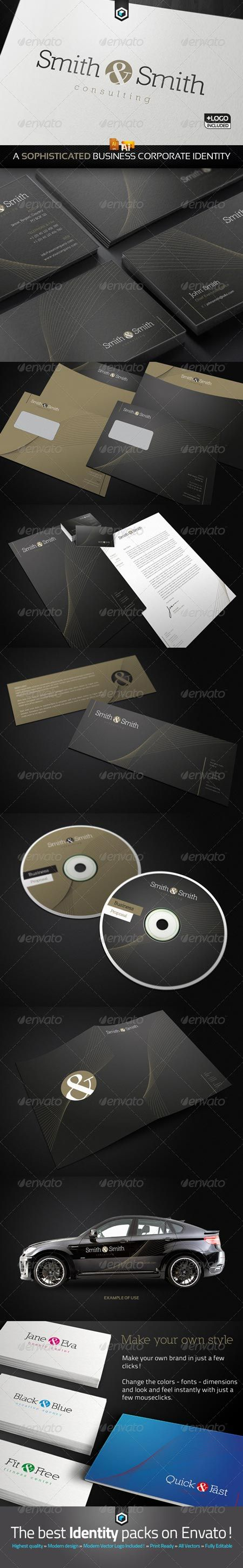 GraphicRiver RW Consultancy Business Corporate Identity & Logo 1405024
