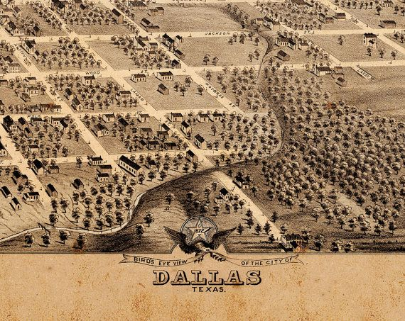 Old Dallas Map.Vintage Map Of Dallas Metal Triptych 36x24 In 2019 Texas