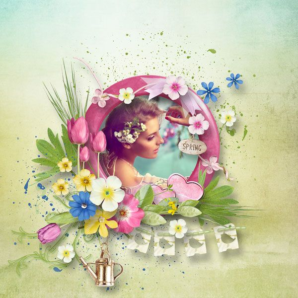 April Challenge and Hello Spring Kit - Freebie by Palvinka Designs  http://palvinka.blogspot.cz/  photo Ksenija Popova use with permission