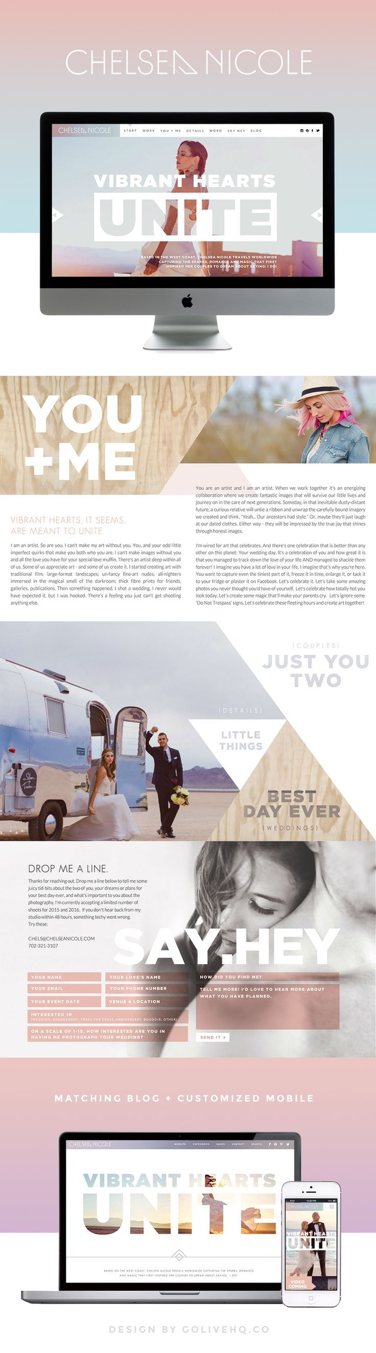modern bright website design by http://GOLIVEHQ.CO