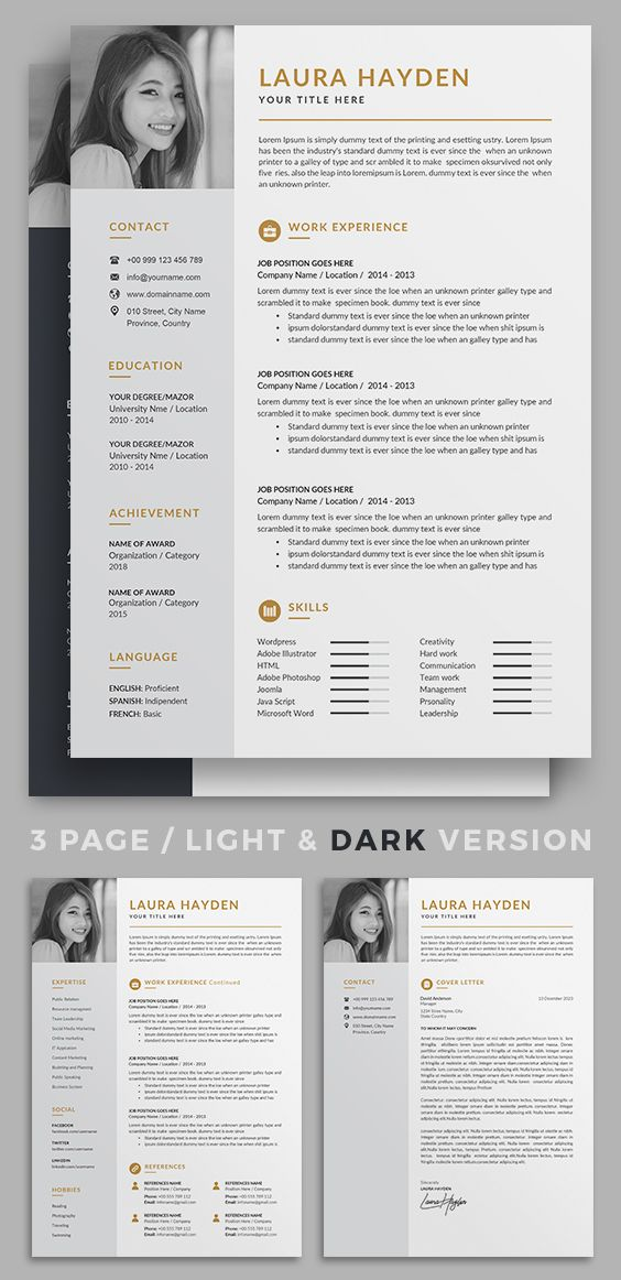 Resume Cv Minimalist Resume Template Resume Design Creative Resume Design
