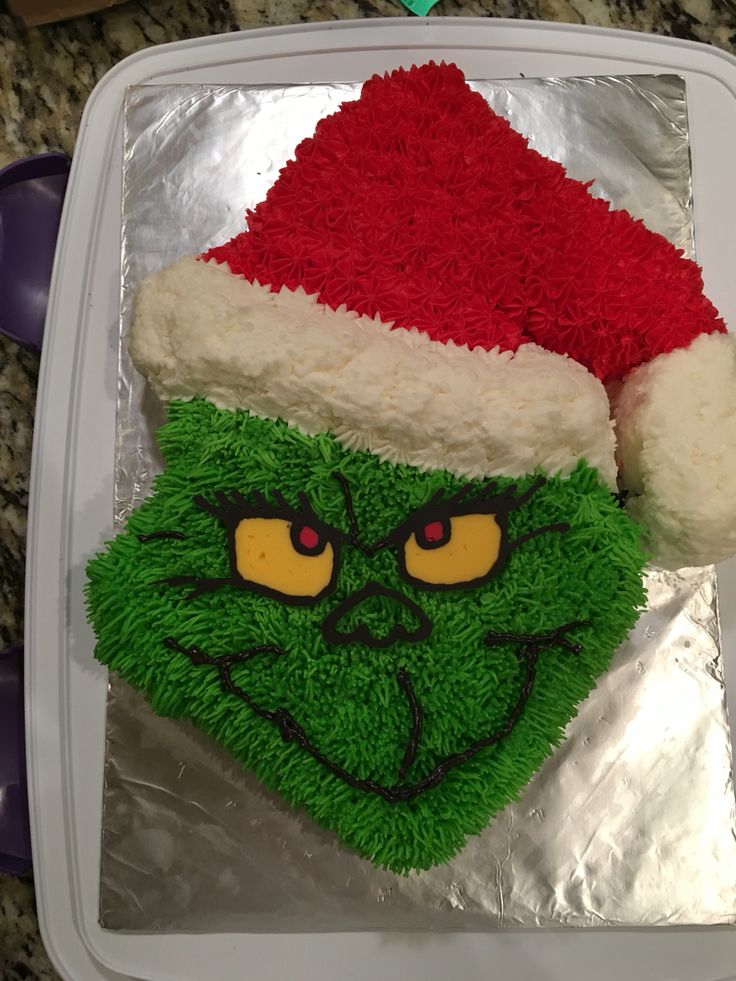 Grinch cake                                                                                                                                                                                 More
