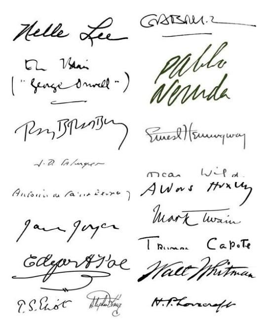 Famous authors' signatures - one day your signature could ...
