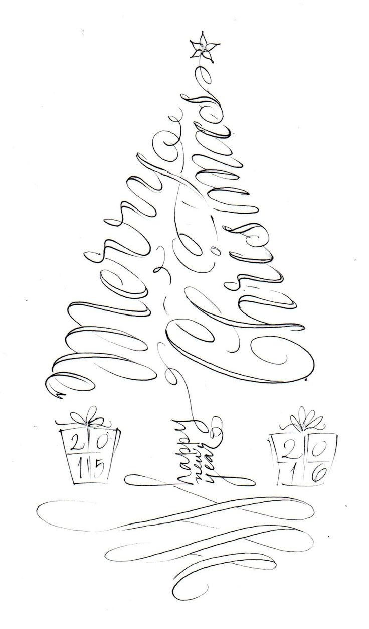 pushing the envelopes: tree calligram More