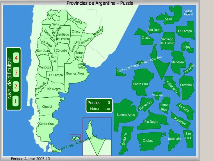 mapa argentina division politica para imprimir - Buscar con Google