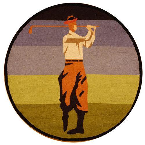 Vintage Posters Golf Collage Novelty Rug | Wayfair