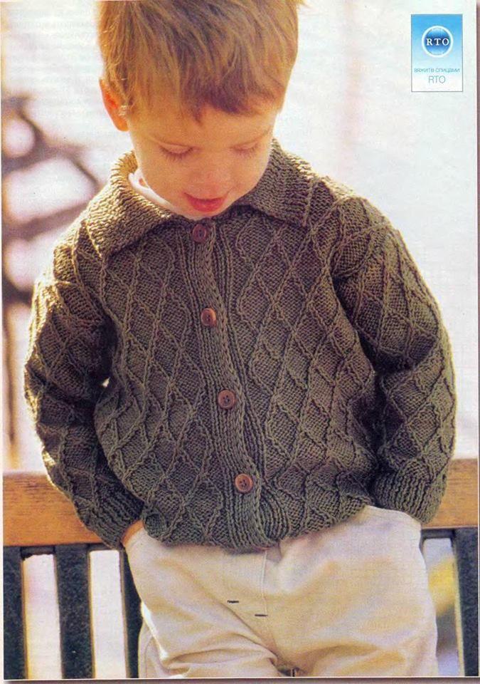 Saco tejido en dos agujas crochet para ni as y ni os - Sacos nordicos ninos ...