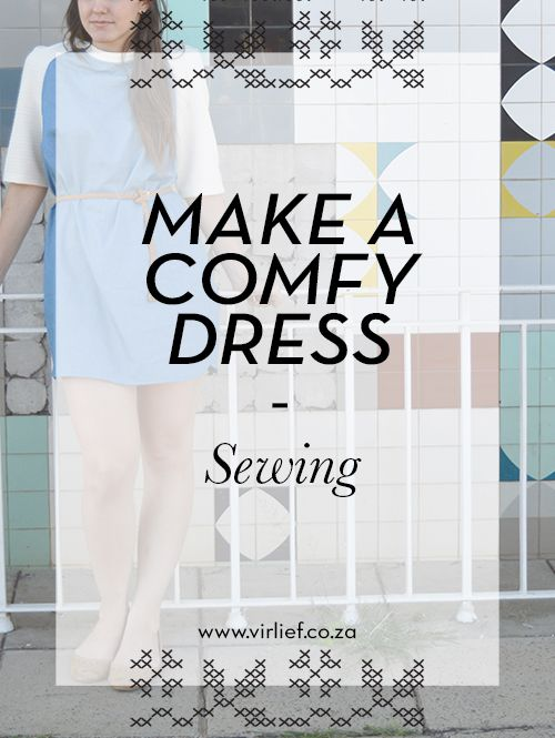 Step-by-step tutorial of the sewing of a raglan sleeve dress. Comfortable to wear at home but  perfect to wear out too!