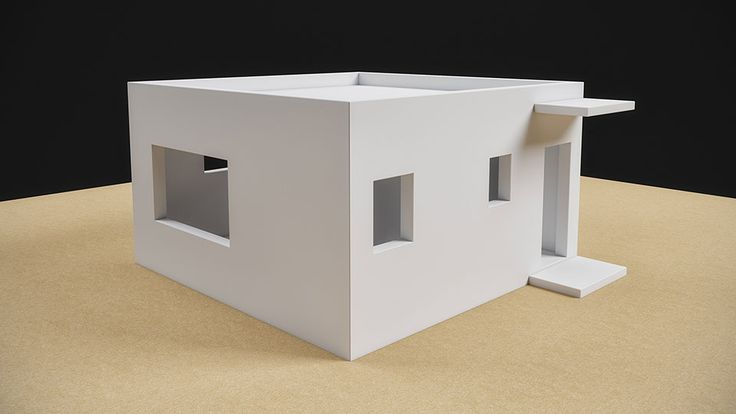 House Plan. Prefabricated House 36 sqm, Architectural