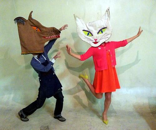 {big bad wolf + the pretty kitty} textile design makumo