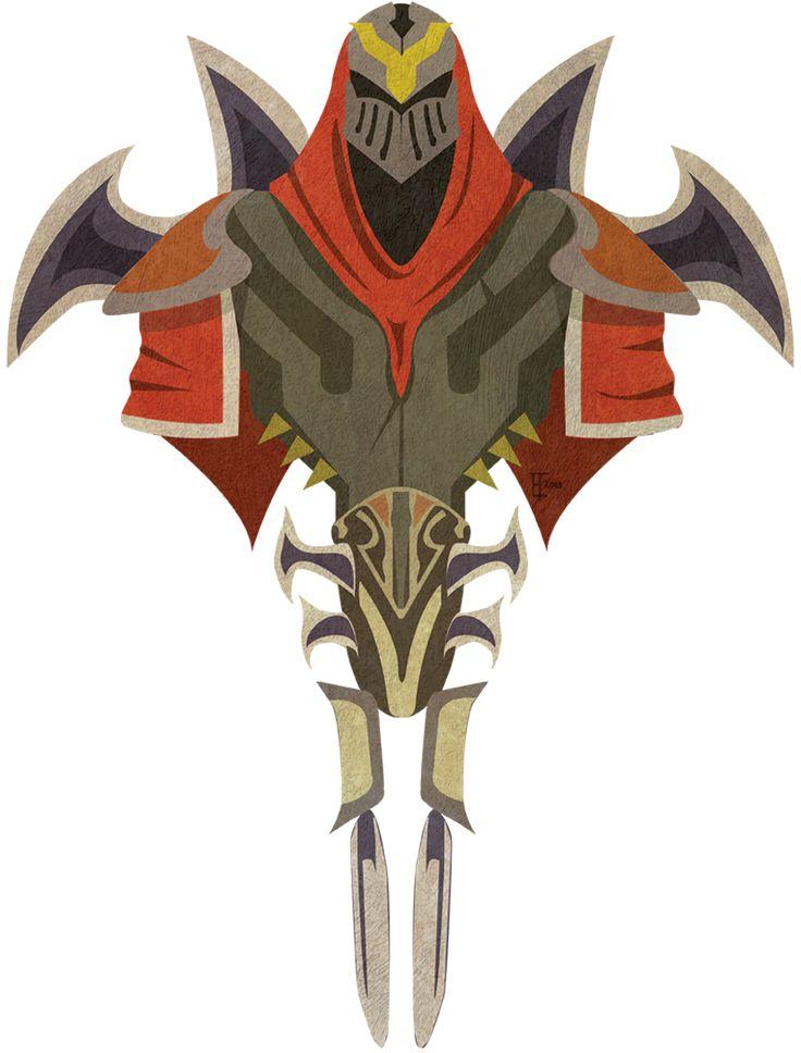 Zed (League of Legends) Commission by Whitebrush1138.deviantart.com on @deviantART