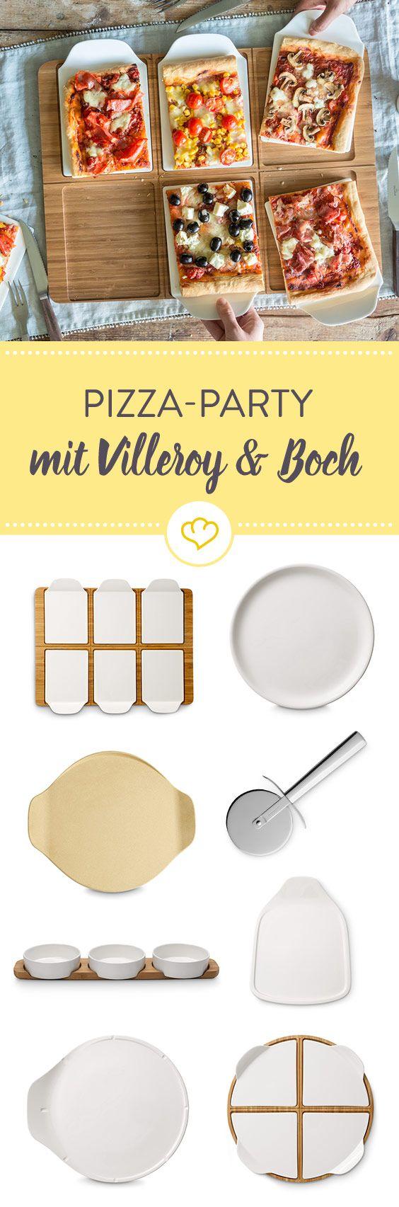 Ob Pizzaschneider, Pizzateller oder Pizzastein - mit Villeroy & Boch kann die nächste Pizza-Party kommen!