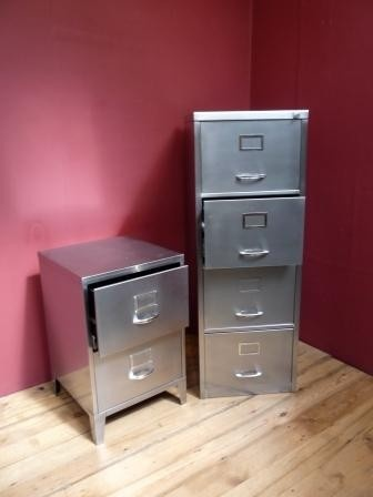 polished steel filing cabinets - Small File Cabinet