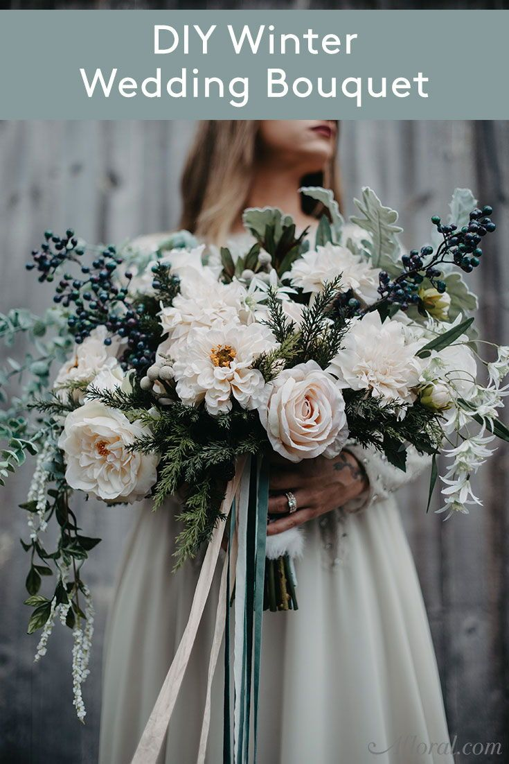 Get The Look Winter Wedding Silk Flower Bouquet Wedding Bouquet Fake Flowers Diy Wedding Bouquet Fake Flowers Winter Wedding Bouquet