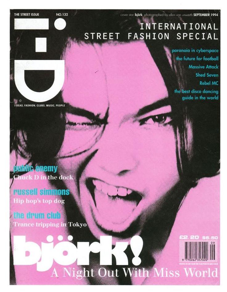 i-D magazine: September 1994 Cover, Bjork
