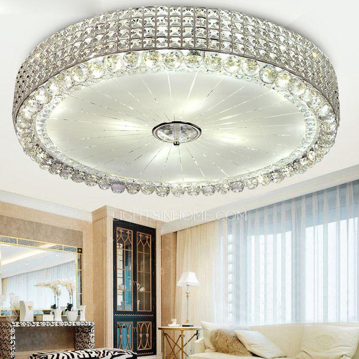 Modern Flush Mount Ceiling Light With E14 Aperture For Bedroom