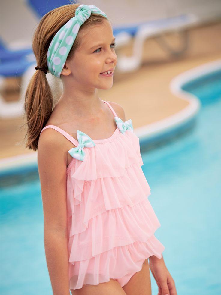 From Cwdkids Tiered Ruffle Swim Suit Kids Spring
