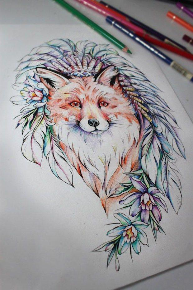 A artista russa Olga Koroleva cria linhas em blackwork e delicadas tatuagens com toques de tintas coloridas, ao se inspirar na natureza, botânica e animais.