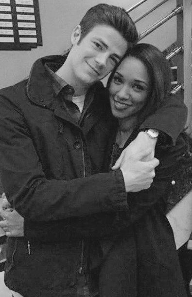 Candice Patton and Grant Gustin