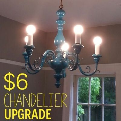19 best chandelier rehab images on pinterest chandelier chandelier makeover on the cheap lifes like this aloadofball Gallery