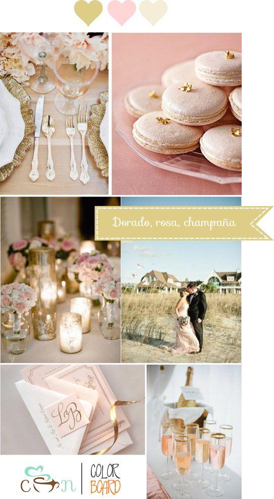 pink and gold wedding/inspiración boda en dorado y rosa
