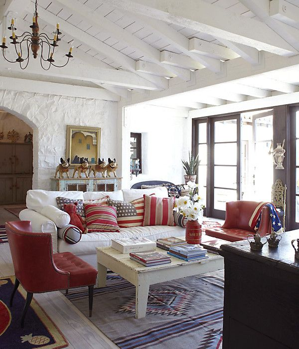 19 best images about red white blue on pinterest red for Red and blue living room ideas