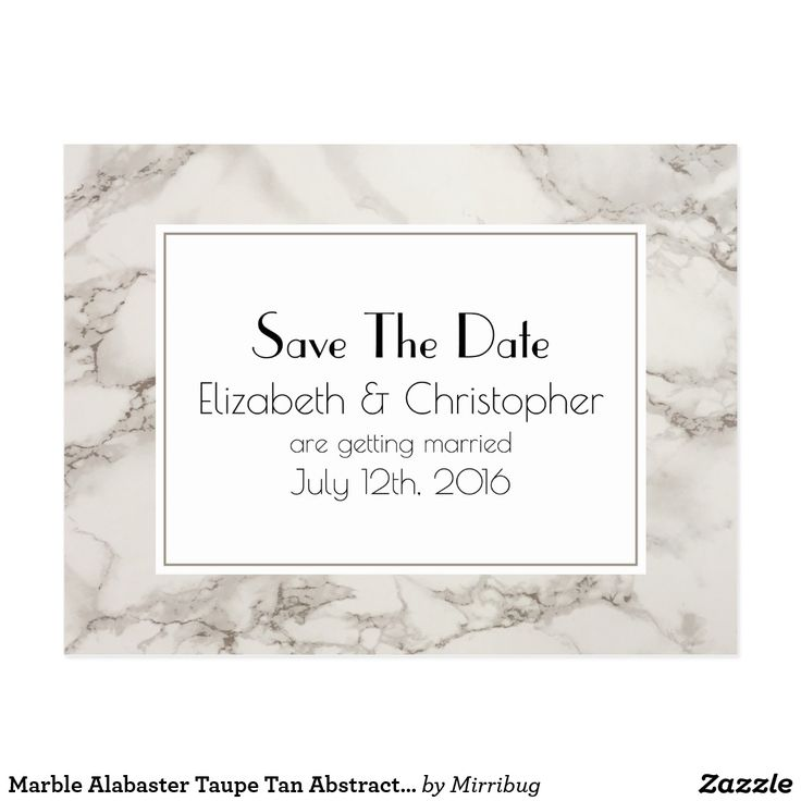 Marble Alabaster Taupe Tan Abstract Save The Date Postcard