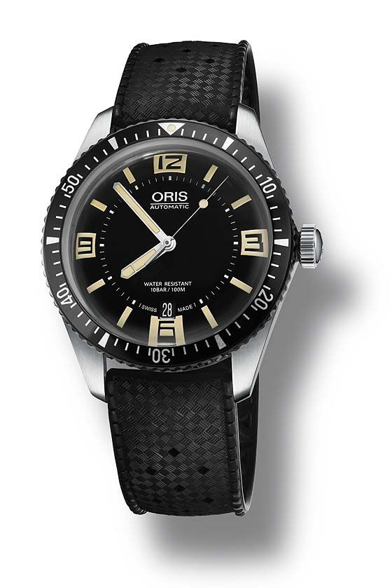 @oris Divers Sixty-Five. A WatchTime review- 5 Oris Watches Under $2,500. http://www.watchtime.com/wristwatch-industry-news/watches/affordable-oris-5-oris-watches-under-2500/ #watchtime #oris