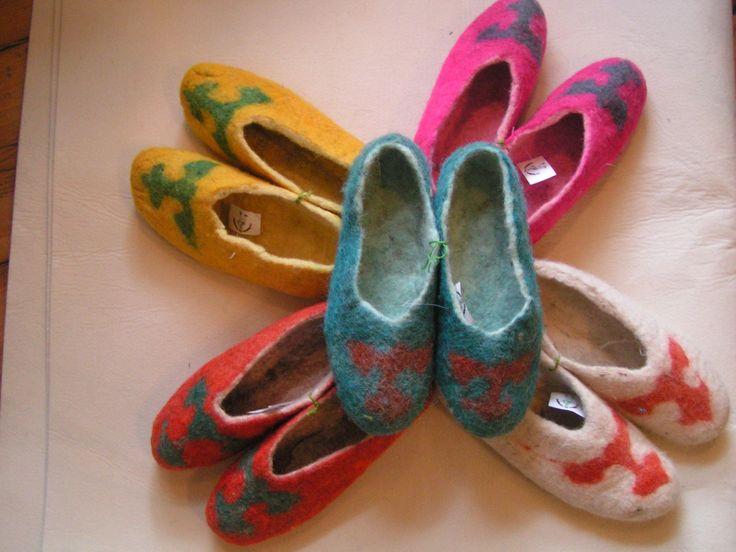 GlobeIn: Handmade Baby Felt Slippers  #globein