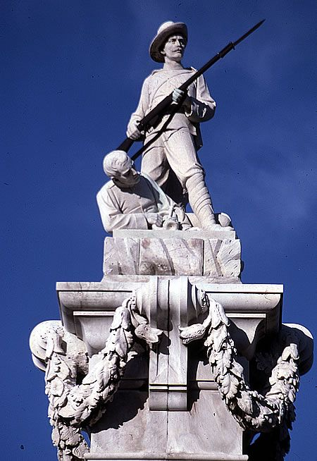 The South African (Boer) War Memorial at the Dunedin Oval.