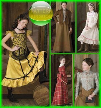 Simplicity 2843 Girls Historic Wild West Costume Patterns