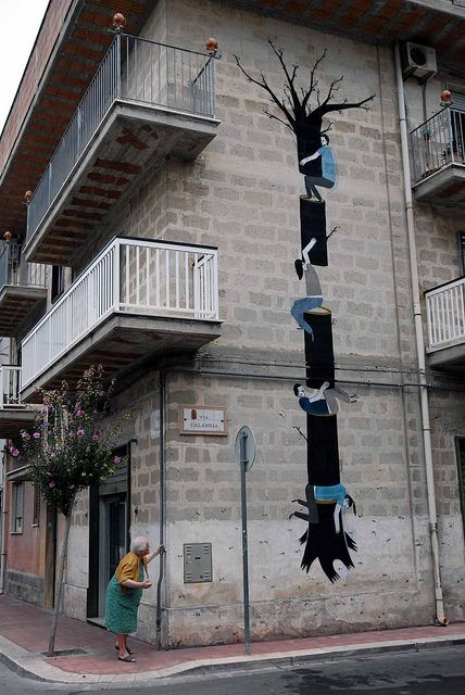 great street art by Spanish artist Escif