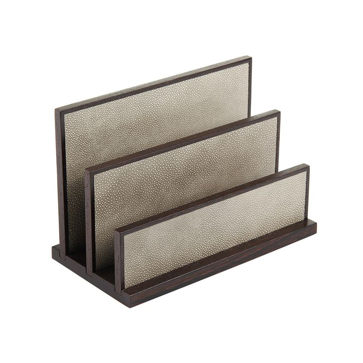 Buy Alexander James Letter Rack   Wenge And Smoke Shagreen | Amara