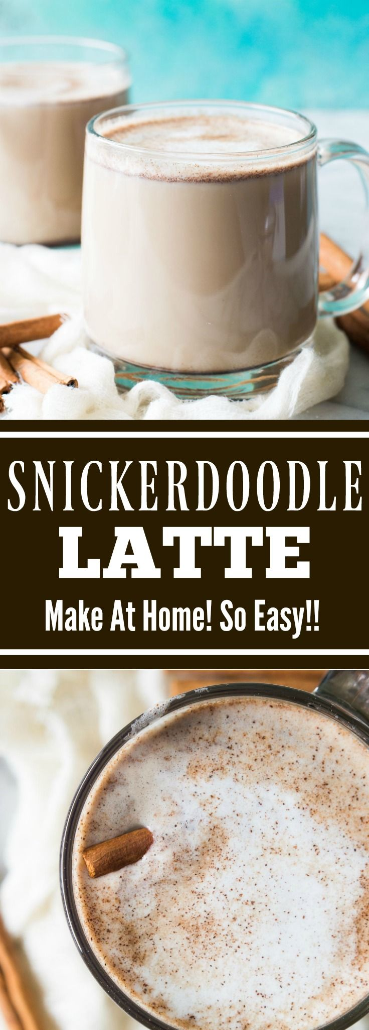 Snickerdoodle Latte - loaded with cinnamon and hints of brown sugar.  Plus it's easily made at home!!  No fancy equipment needed!