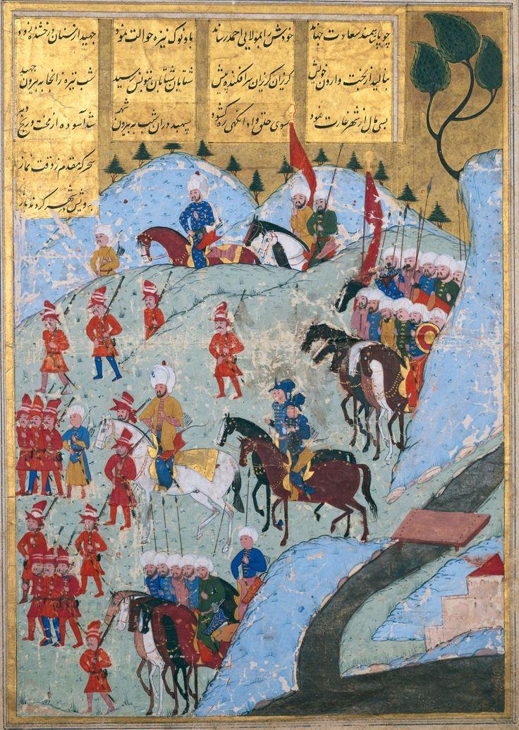Troupes ottomanes d'Uludj Ali venant d'Alger et marchant sur Tunis en 1569