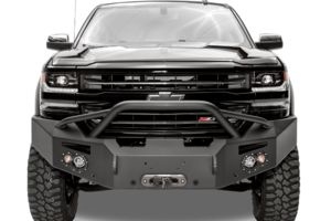 Fab Fours CS07-H2052-1 Front Bumper Chevy Silverado 1500 2007-2013 Winch Ready with Pre-Runner Guard Premium