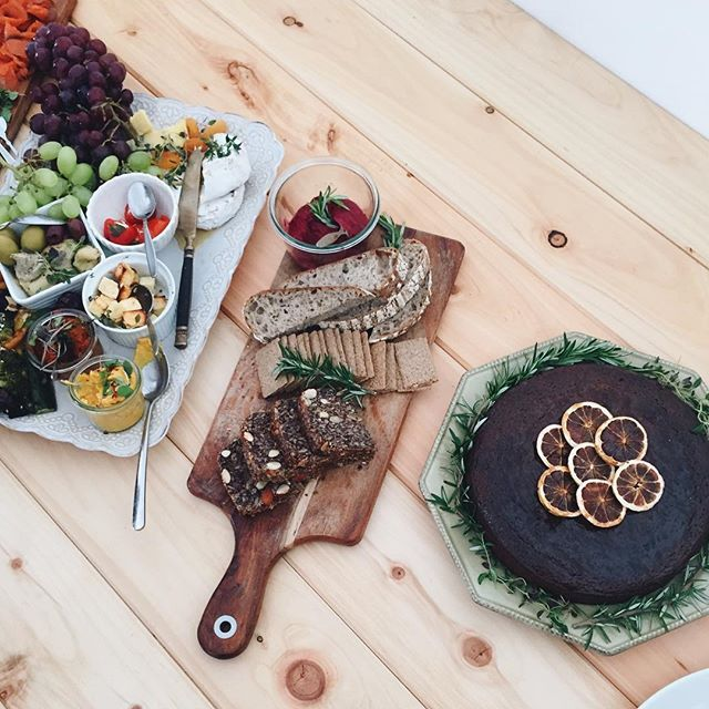 Gorgeous grazing table by Mondays Wholefoods