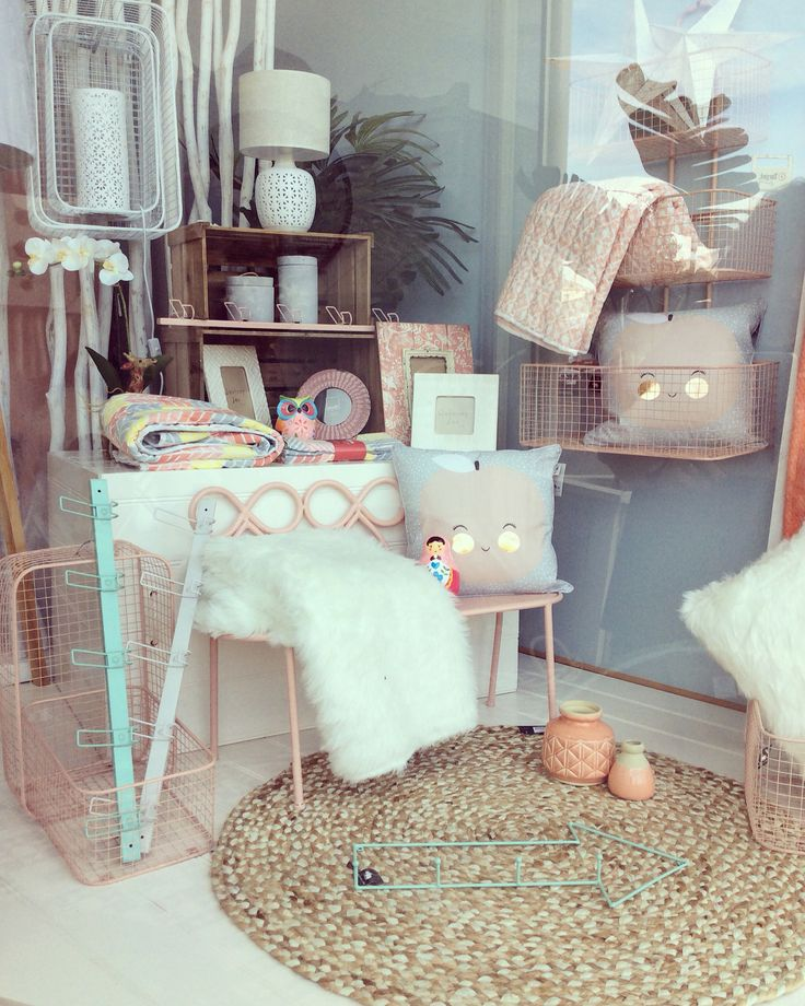 New window #softpinks #junior #mint #minichair #baskets #fuxfurthrow #peach #lamps #gifts #homewares #quinceyjac