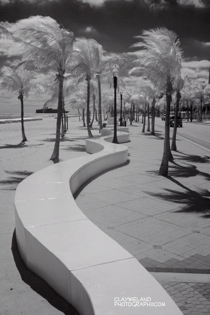 Fort Lauderdale Beach as seen in Infrared!