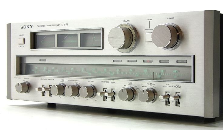 SONY STR-V6 - power output: 115 watts per channel into 8Ω (stereo) - frequency response: 5Hz to 50kHz - total harmonic distortion: 0.07% - weight: 21.9kg - year: 1978