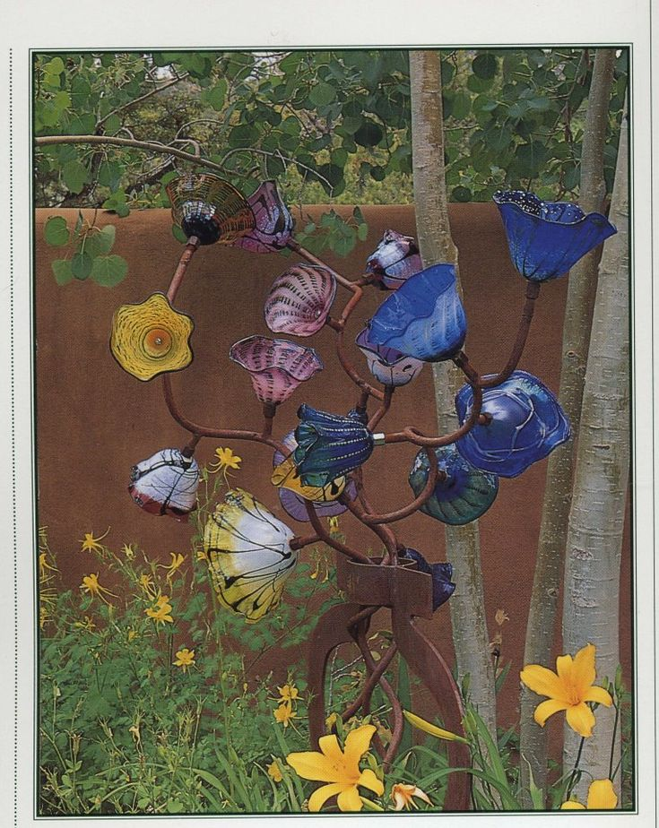 Recycle glass flowers