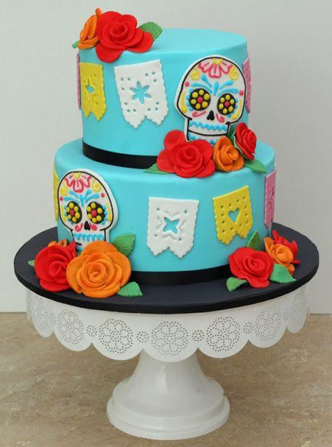 Dia de los Muertos Fondant Cake